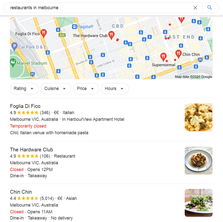 Register a Google My Business Listing